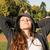 mulher · sol · ar · colchão · negócio - foto stock © spectral