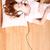 nő · zenét · hallgat · hifi · sztereó · otthon · zene - stock fotó © spectral