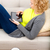 túlsúlyos · nő · megnyugtató · kanapé · lány · farmer - stock fotó © spectral