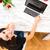 jungen · schöne · Frau · mit · Laptop · home · Computer · Mädchen - stock foto © Spectral