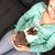dziewczyna · królik · młodych · kobieta · szczęśliwy · bunny - zdjęcia stock © spectral