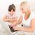 aile · dizüstü · bilgisayar · kullanıyorsanız · mutfak · birlikte · kadın · çocuklar - stok fotoğraf © spectral