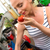 genç · kadın · hasat · domates · genç · kişi - stok fotoğraf © spectral