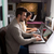 adam · kalma · çevrimiçi · dizüstü · bilgisayar · görüntü · kalp · şekli - stok fotoğraf © spectral