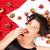 pretty · woman · mangiare · dessert · letto · donna · alimentare - foto d'archivio © spectral