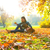 осень · девушки · тополь · дерево · лес · играет - Сток-фото © spectral
