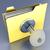 trancado · dobrador · 3D · gerado · quadro · amarelo - foto stock © spectral