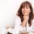 portre · mutlu · kıdemli · kadın · kahvaltı · oturma - stok fotoğraf © spectral