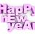boldog · új · évet · üdvözlőlap · 3D · renderelt · kép · illusztráció · izolált - stock fotó © spectral