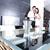 два · молодые · люди · кухне · гостиной · человека · домой - Сток-фото © spectral
