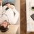 tipo · auriculares · sofá · joven · relajante · salón - foto stock © spectral
