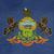 grunge · Pennsylvania · vlag · amerika · geïsoleerd · witte - stockfoto © speedfighter