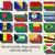 Belize · zászló · térkép · háromdimenziós · render · izolált - stock fotó © speedfighter