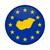 európai · zászló · térkép · Magyarország · izolált · fehér - stock fotó © speedfighter