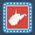 Nyugat-Virginia · zászló · gomb · arany · fém · körkörös - stock fotó © speedfighter
