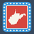 Virginie · bouton · drapeau · américain · web · design · style - photo stock © speedfighter