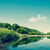 Lake scenery with green trees stock photo © Sportactive