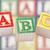 fából · készült · ábécé · kockák · baba · fa · iskola - stock fotó © sqback