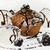 chocolate · baunilha · sorvete · framboesa · molho · comida - foto stock © srnr