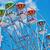 óriáskerék · közelkép · híres · kék · ég · felhők · park - stock fotó © srnr