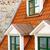eski · çatı · çatı · katı · pencereler · Bina - stok fotoğraf © srnr