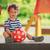 menino · jogar · vermelho · bola · correndo · feliz - foto stock © steevy84