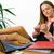 papieru · paznokci · kobieta · interesu · pracy · biurko · młodych - zdjęcia stock © steevy84