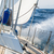 Fast sailing cruising yacht at heeling stock photo © Steffus