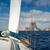 парусного · рок · острове · яхта · морем - Сток-фото © Steffus