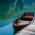 лодка · небе · лес · зеркало · озеро - Сток-фото © Steffus