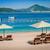 Montenegró · luxus · homok · tengerpart · bútor · székek - stock fotó © Steffus
