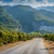 carretera · montana · pueblo · otono · paisaje · helado - foto stock © steffus