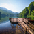 парка · пруд · пирс · металл · древесины · небольшой - Сток-фото © steffus