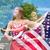 dobrar · exposição · patriótico · mulher · abstrato · criador - foto stock © Stephanie_Zieber