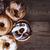 donut over rustic barn wood background stock photo © stephaniefrey
