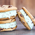 chocolate chip mint ice cream cookie sandwiches stock photo © stephaniefrey
