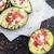 gebakken · tomaten · geitenkaas · plaat · groenten · plantaardige - stockfoto © stephaniefrey
