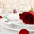 lugar · rosa · vermelha · isolado · branco · flores · jantar - foto stock © stephaniefrey