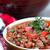 tigela · pimenta · fundo · jantar · refeição · carne - foto stock © stephaniefrey
