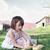 девочку · играет · яйца · корзины · белый · Пасху - Сток-фото © stephaniefrey