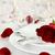 romântico · luz · de · velas · tabela · longo · haste · rosa · vermelha - foto stock © stephaniefrey