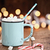 chaud · bonbons · émail · tasse · mini · pin - photo stock © stephaniefrey