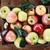 rouge · vert · pommes · bois · boîte · fraîches - photo stock © stephaniefrey