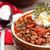 ложку · бобов · томатный · белый · красный · серебро - Сток-фото © stephaniefrey