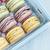 tray of pastel macarons stock photo © stephaniefrey