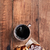 casal · tabela · café · da · manhã · sobremesa · comer - foto stock © stephaniefrey