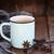 kávé · ízek · bögre · kávé · mogyoró · fahéj - stock fotó © stephaniefrey