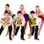 disco · danser · team · poseren · geïsoleerd · witte - stockfoto © stepstock