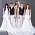 trouwjurk · poseren · grijs · meisje · bruiloft - stockfoto © stepstock
