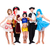 táncosok · karnevál · jelmezek · pózol · fehér · buli - stock fotó © stepstock